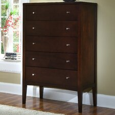 <strong>Home Image</strong> Harbor 5 Drawer High Chest