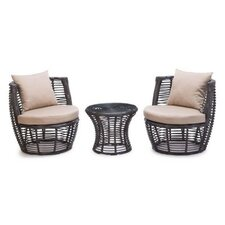 <strong>dCOR design</strong> Stanley Patio 3 Piece Stacking Seating Group