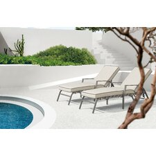Grand Beach Chaise Lounge with Cushion