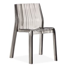 Ruffle Chair in Transparent Grey