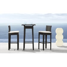 Railay Outdoor Pub Table Set in Dark Brown