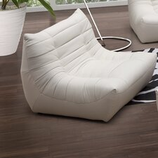 Carnival Leatherette Chair and Ottoman