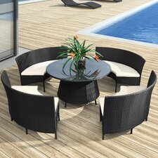 <strong>dCOR design</strong> La Barrosa 5 Piece Dining Set