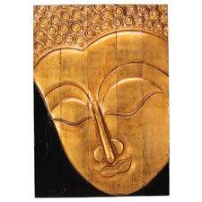 Gilt Buddha Photographic Print on Plaque