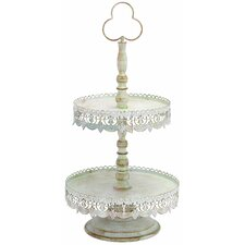 <strong>Woodland Imports</strong> Victorian 2 Tier Treat Tray