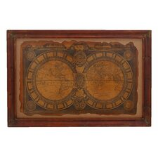 Ancient 17th Century World Map Wall Art