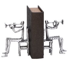 <strong>Woodland Imports</strong> Aluminum Musician Book Ends (Set of 2)