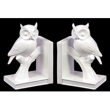 Pristine Owl On Stand Bookend (Set of 2)