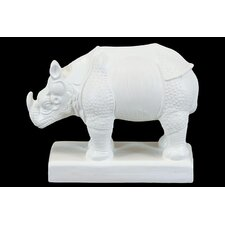 Delicately Designed Rhino Animal Miniature Figurine