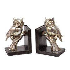 Glossy Owl Bookend (Set of 2)