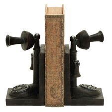 Old Look Telephone Themed Book Ends (Set of 2)