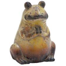 Ceramic Frog Statue