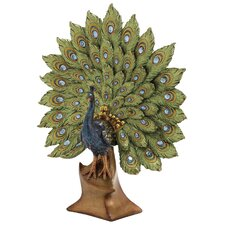 Peacock Decor Figurine