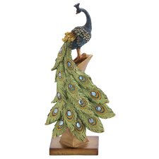 Peacock Table Décor Statue