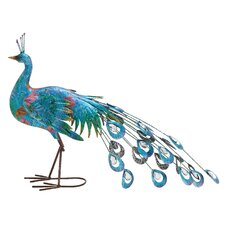 Metal Crafted Peacock Décor Statue