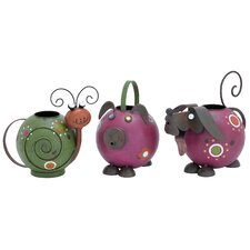 <strong>Woodland Imports</strong> 3 Piece Watering Pot Set