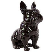 Scintillating Bright Ceramic Dog Figurine