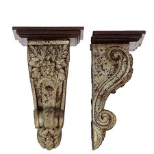 <strong>Woodland Imports</strong> Pretty Flower Patterned Stunning Corbel