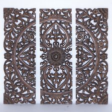 <strong>Woodland Imports</strong> 3 Piece Panel Wall Décor Set
