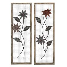 <strong>Woodland Imports</strong> 2 Piece Floral Wall Décor Set
