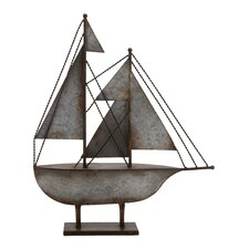 Rustic Antique Styled Fascinating Metal Sailboat