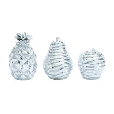3 Piece Attractive Polystone Fruit Set