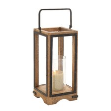 Wood Metal Glass Lantern