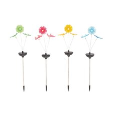 The Lovely Metal Solar Garden Stake (Set of 4)
