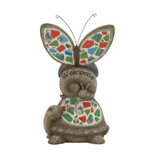 Attractive Welcome Polystone Mosaic Garden Statue