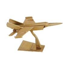 Golden Shiny Styled Aluminum Fighter Jet