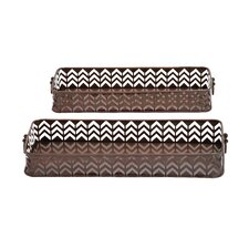 Unique and Elegant 2 Piece Rectangular Shaped Tray Set