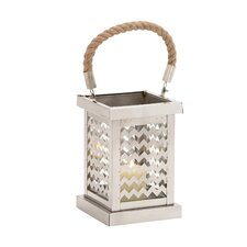 Elegant Stainless Steel Glass Lantern