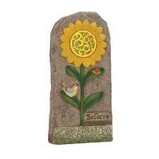 Lovely and Attractive Solar Garden Stone Statue