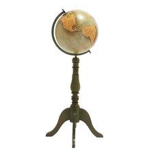 The Handsome Wood Metal Floor Globe