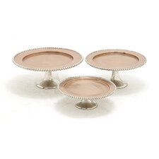 The Exquisite 3 Piece Cake Plate Set