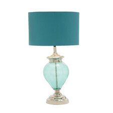 "28"" H Glass Chrome Table Lamp"