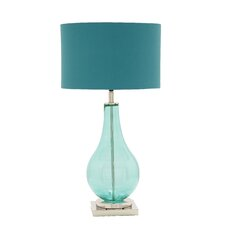 "30"" H Glass Chrome Table Lamp"