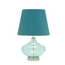"27"" H Glass Chrome Table Lamp"