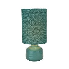 "23"" H Ceramic Table Lamp with Drum Shade"