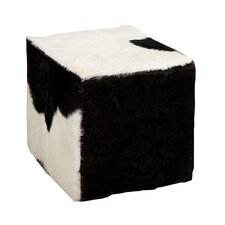 The Comfortable Wood Square Goat Stool