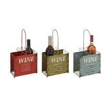 Rustic Tabletop Wine Rack (Set of 3)