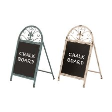 "The Cool Metal 1' 5"" x 10"" Chalkboard (Set of 2)"