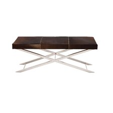 Metal Leather Entryway Bench