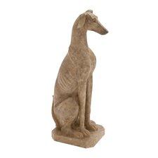 The Squatting Polystone Dog Statue