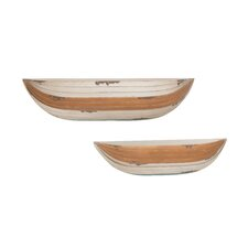 2 Piece Attractive Unique Wood Wall Shelf Set