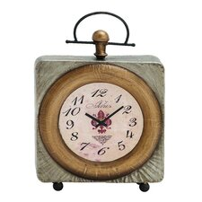Classic Customary Metal Table Clock