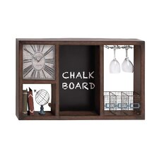 Useful Metal Wall Clock Wine Rack