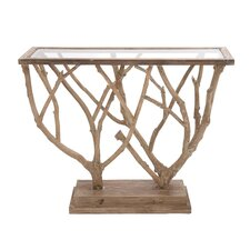 Brilliant Wood / Glass Console Table