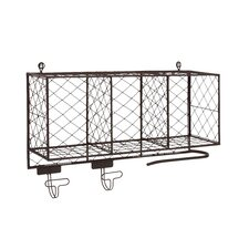 Multipurpose Metal Shelf with Hooks