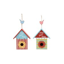 2 Piece Hanging Birdhouse Set
